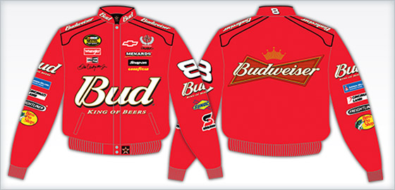8 Dale Earnhardt Jr. // Budweiser rouge