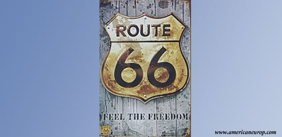 Plaque Route 66 Grey