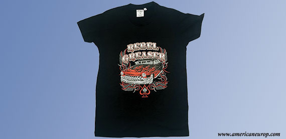 Tee shirt HOT ROD REBEL GREASER