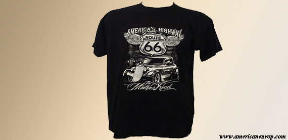 Tee-shirt route 66 Hot Rod