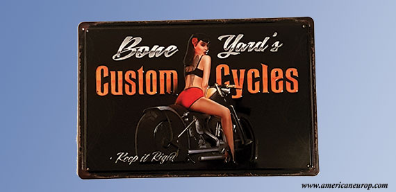 Plaque Custom Cycles Relief
