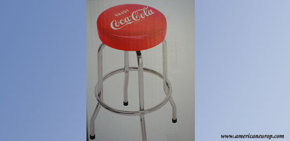 TABOURET DE BAR COCA COLA
