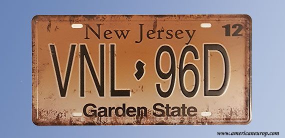 Plaque New Jersey