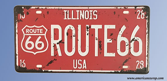 Plaque immatriculation Illinois Red