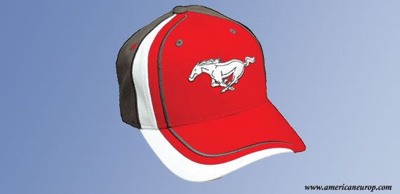 CASQUETTE MUSTANG RED AND GREY