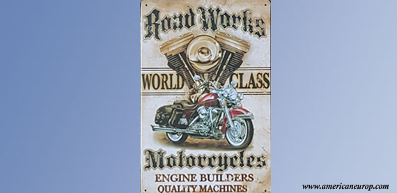 Plaque Road Works Motorcycles
