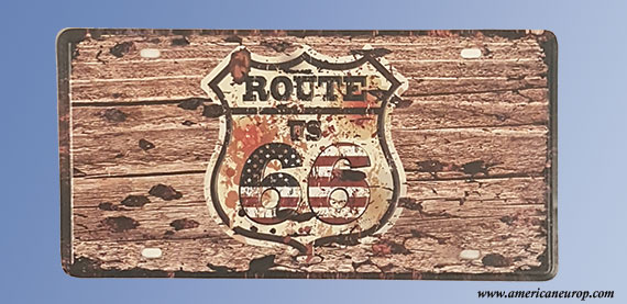 Plaque Route 66 wood
