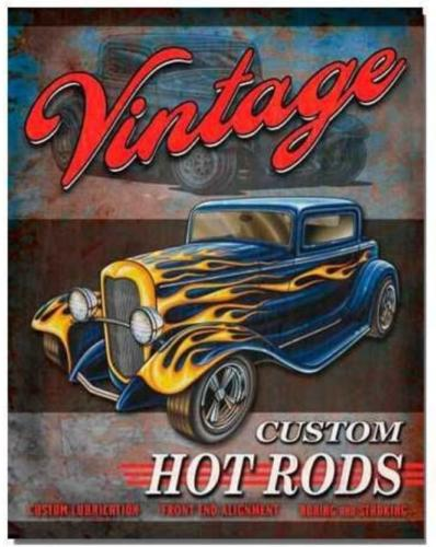 Plaque Vintage Hot Rods