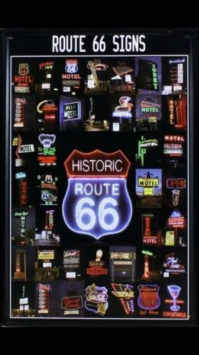 Plaque Route 66 Signs