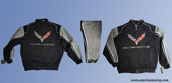 BLOUSON CORVETTE C7 black/grey