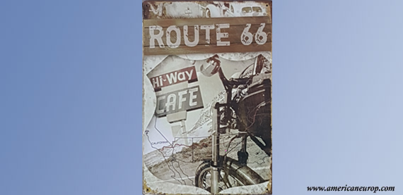 Plaque Hiway Cafe 66