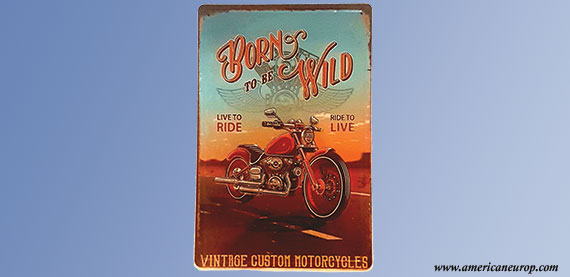 Plaque Born To Be Wild