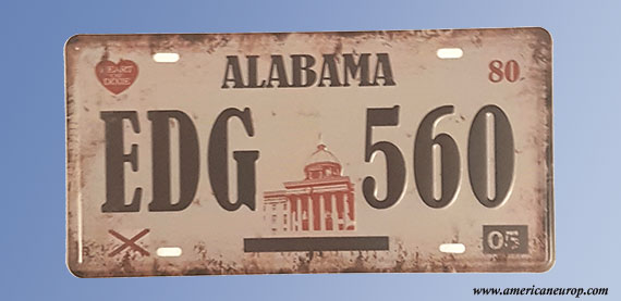 Plaque Alabama