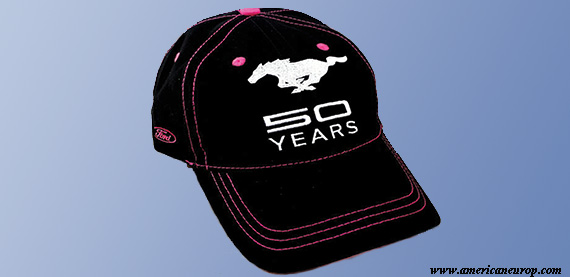 CASQUETTE MUSTANG birthday 50 PINK